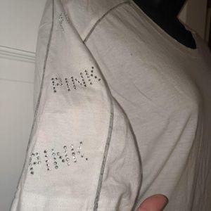 White Rimestones Tee Shirt Pink V.S New